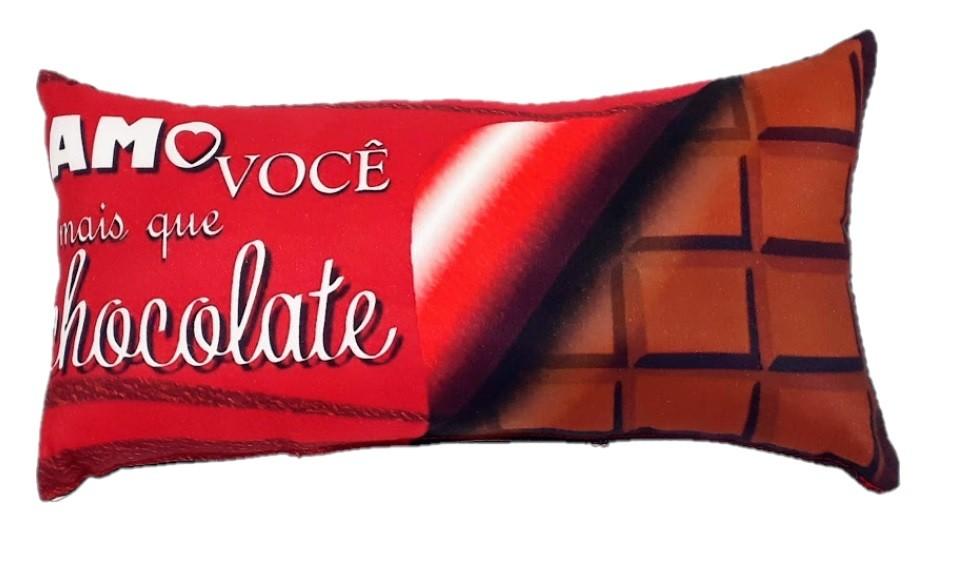 Almofada Amo + que chocolate