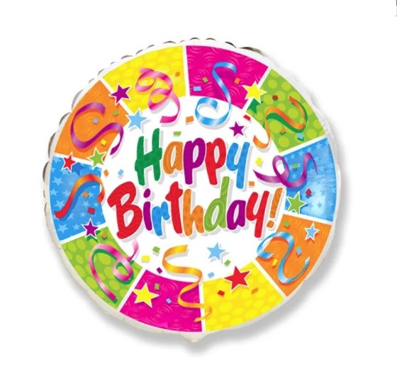 Balão Metalizado de Aniversário