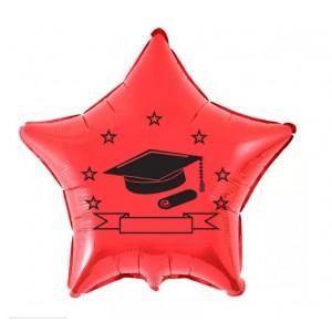 Balão Metalizado - Formatura Vermelho