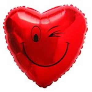 Balão Metalizado - Coração Piscando