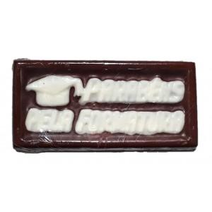 Placa de chocolate - Parabéns pela Formatura