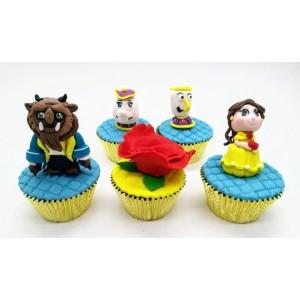 Cupcake 3D Bela e a Fera