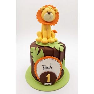 Mini bolo mesversário Leão