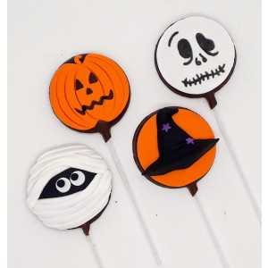 Pirulito de chocolate Halloween