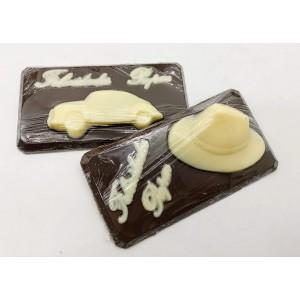 Placa de chocolate - Felicidades Papai