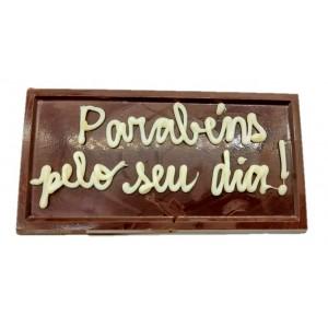 Placa de chocolate - Parabéns pelo seu dia