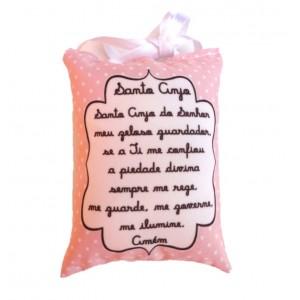 Mini Almofada Santo Anjo - Rosa