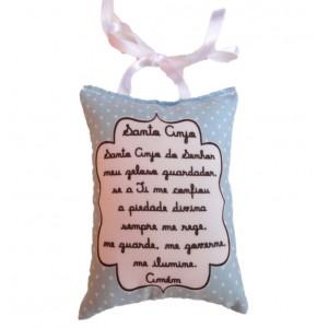Mini Almofada Santo Anjo - Azul