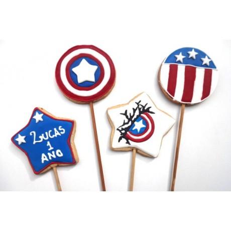 Biscoito Capitão América