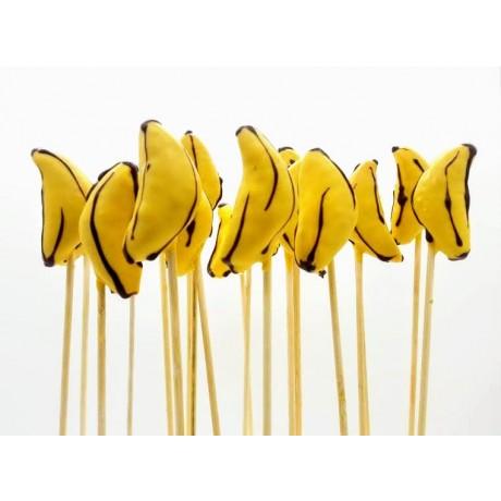 Cake pop de banana