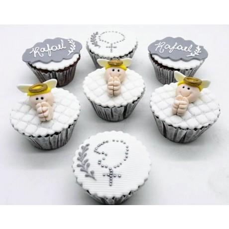 Cupcake 3D médio Batizado