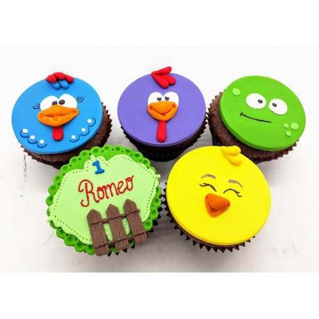 Cupcake Galinha Pintadinha