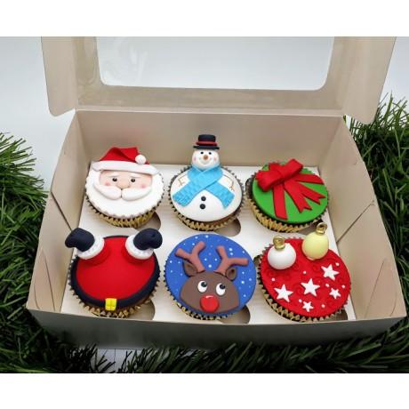 Kit 6 Cupcakes Natalinos