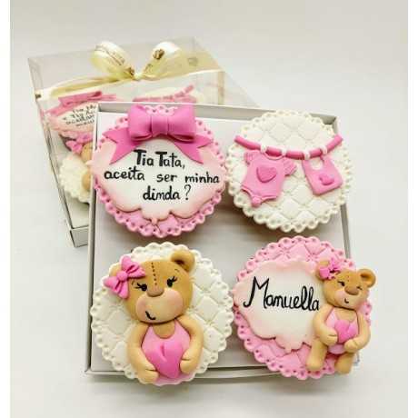 Kit cupcake Padrinhos