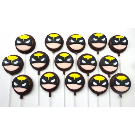 Pirulito de chocolate Wolverine