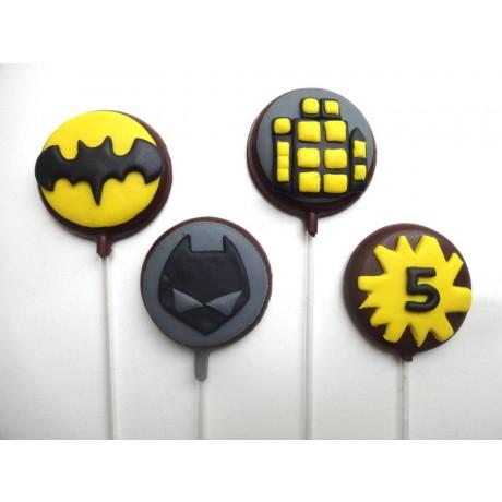Pirulito de chocolate Batman