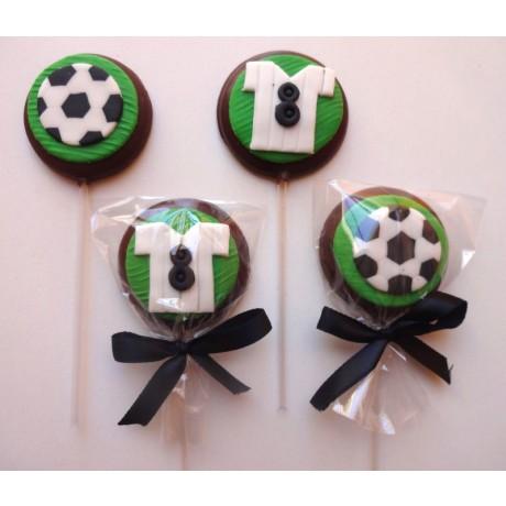 Pirulito de chocolate Futebol